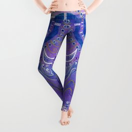 Purple circling Leggings
