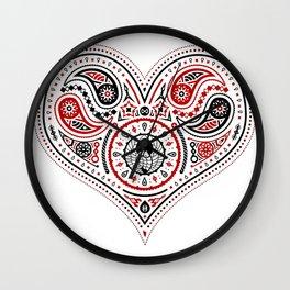 83 Drops - Hearts (Red & Black) Wall Clock