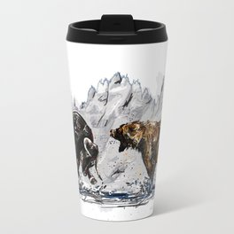 Bull and Bear Travel Mug