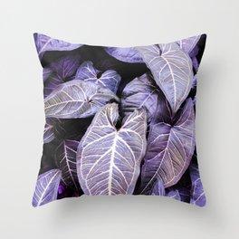 Jungle leaf - amethyst Throw Pillow