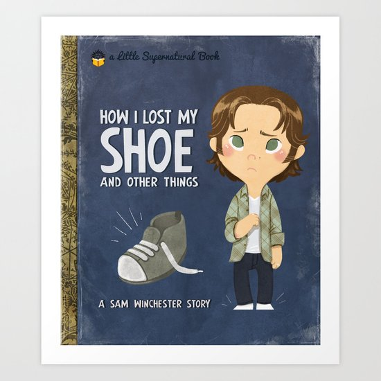 A Little Supernatural Goldenbook Art Print