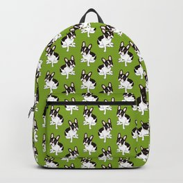 Cute double hooded pied French Bulldog wants your attention Backpack