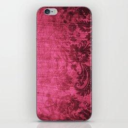 Pink damask iPhone Skin