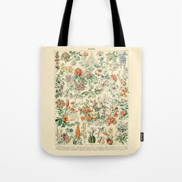 Wildflowers and Roses // Fleurs III by Adolphe Millot 19th Century Science Textbook Artwork Tote Bag