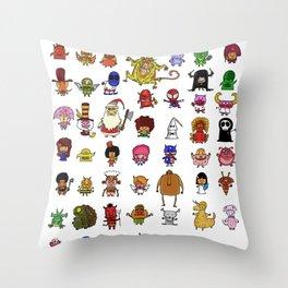 LittleWeirdos Throw Pillow