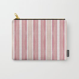 Blush Pink Coral Striped Pattern Carry-All Pouch