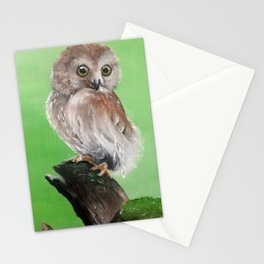 Perched Owl Stationery Cards