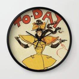 To-Day Dudley Hardy 1895 Wall Clock