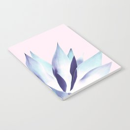Solar Agave - Pastel blue on pink Notebook
