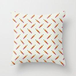 Pencil Pattern Throw Pillow
