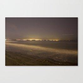 Portobello Beach at night Canvas Print