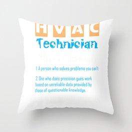 HVAC Air Conditioner Heater Technician Definition print Throw Pillow