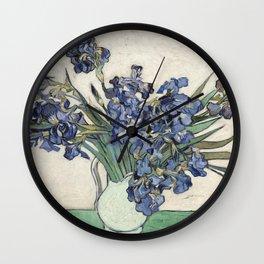 Vase with Irises Wall Clock