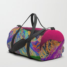 California's Sierra Mts-Digital Art, Green & Purple Duffle Bag