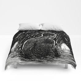 Figure in Water Cave Comforters