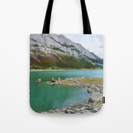 Medicine Lake in Jasper National Park, Canada Tote Bag
