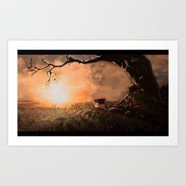 Landscape wonderland Art Print