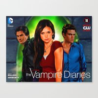the vampire diaries Canvas Prints featuring The Vampire Diaries by Don Kuing