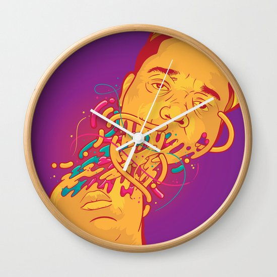 Happily melting Notorious Wall Clock