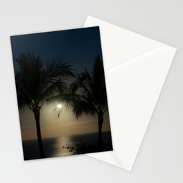 Night Moonlight in the Tropics of Mexico Stationery Cards
