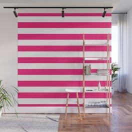 Florida Flamingo Pink Horizontal Tent Stripes Florida Colors of the Sunshine State Wall Mural