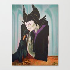 Sorceress with Raven Canvas Print