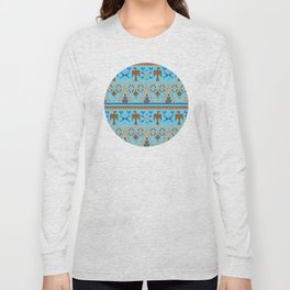 American Native Pattern No. 124 Long Sleeve T-shirt