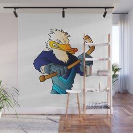 duck hockey player. Wall Mural