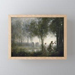 Camille Corot - Orpheus Leading Eurydice From The Underworld Framed Mini Art Print