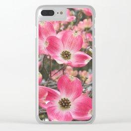 quixotic pink dogwood Clear iPhone Case