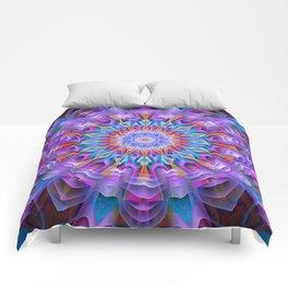 Abstract purple luxury Mandala Comforters