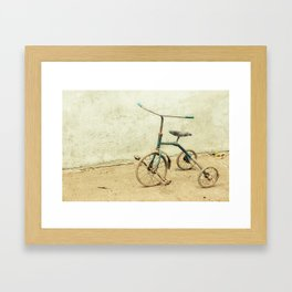 Old Rickety Tricycle Framed Art Print