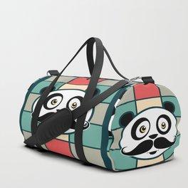 Mustache Panda Duffle Bag