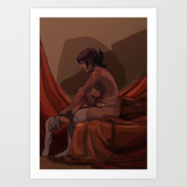 Sentada Art Print