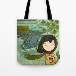 """""""Ghost figures of past, present, future haunting the heart"""" Tote Bag"""