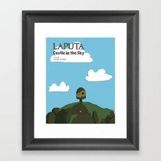 Laputa Castle in the Sky Framed Art Print