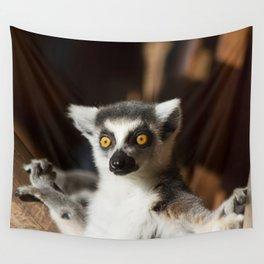 Lemur Catta Wall Tapestry