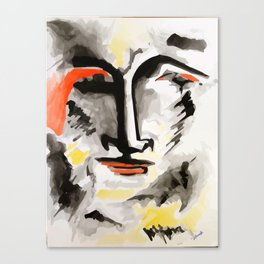 face two watercolor Canvas Print