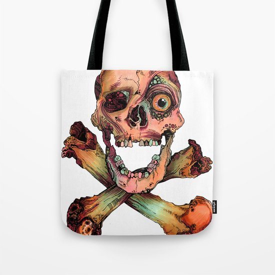 Skull in Color Tote Bag