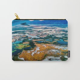 Airplane Window View | Salt Lake City Psychedelic Natural Vibrant Colorful Landscape Carry-All Pouch