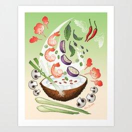 Thai Shrimp Art Print