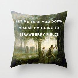 Orpheus Leading Eurydice to Strawberry Fields Throw Pillow