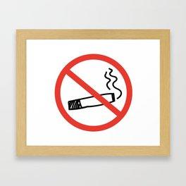 no smoking Framed Art Print
