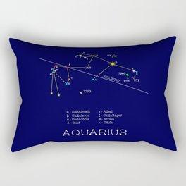 Zodiac Constellation Aquarius Rectangular Pillow
