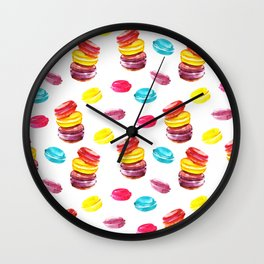 Sweet macaroons Wall Clock