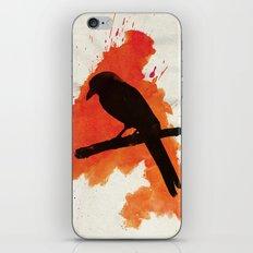 Dark Wings, Dark Words iPhone & iPod Skin