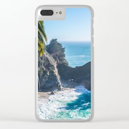 Breathtaking tropical beach with rocks Clear iPhone Case