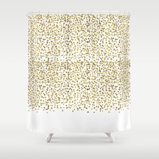 Gold Confetti Sparkle and Shine Shower Curtain
