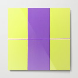 August - Purple and Yellow Metal Print