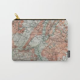 Vintage Map New York Carry-All Pouch